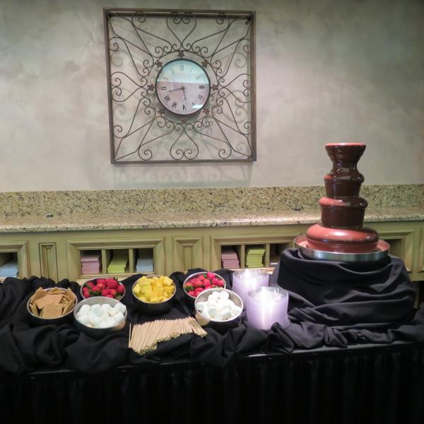 [Image: Chocolate Fountains are always fun at a wedding.]